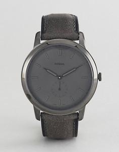 Часы с кожаным ремешком Fossil FS5445 The Minimalist - Серый