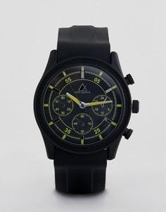 Черные часы с желтой отделкой ASOS DESIGN - Черный