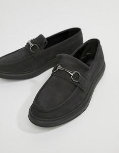 Черные кожаные лоферы с пряжками ASOS DESIGN - Черный