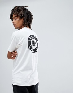 Футболка с принтом на спине Brixton Prowler - Белый