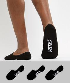 Набор из 3 пар черных невидимых носков Vans Classic 3 VXTTBLK - Черный