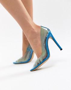 Синие прозрачные туфли-лодочки Public Desire - Синий