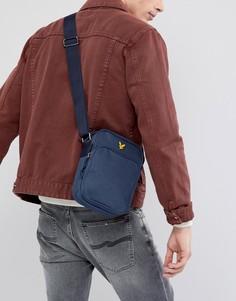 Темно-синяя сумка для авиапутешествий Lyle & Scott - Темно-синий