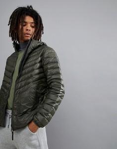Дутая куртка цвета темного хаки Jack Wolfskin Vista - Зеленый