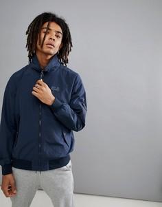 Темно-синяя куртка Харрингтон Jack Wolfskin Huntington - Темно-синий