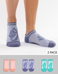 3 пары цветных невидимых носков Nike - Мульти