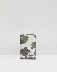 Бумажник с камуфляжным принтом и RFID-меткой Herschel Supply Co Frank - Зеленый