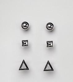 Черные серьги-гвоздики DesignB эксклюзивно для ASOS - Черный