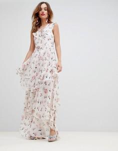 Ярусное платье макси Y.A.S - Мульти
