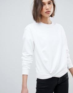 Свитшот с узелком AllSaints - Белый