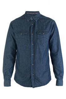 498d7ffe90a5a4b Мужские рубашки с длинным рукавом Armani Jeans – купить в интернет ...