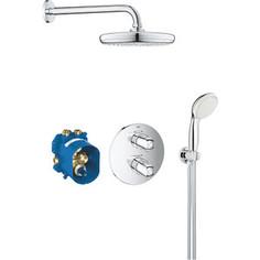 Душевая система Grohe Grohtherm 1000 New с термостатом, ручным душем (34614001)