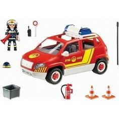 Игровой набор Playmobil Пожарная служба: Пожарная машина командира со светом и звуком (5364pm)