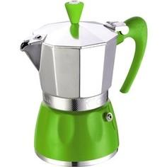 Гейзерная кофеварка на 3 чашки G.A.T. Delizia зеленый (100003 green)