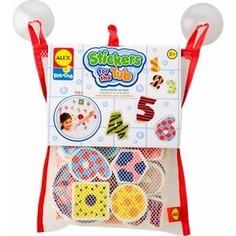 Игрушка для ванны Alex Набор фигурок-стикеров Цифры в сетке, от 3 лет (632W) Alex®