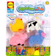 Игрушка для ванны Alex Ферма 4 пр., в блистере от 6 мес. (700FN) Alex®