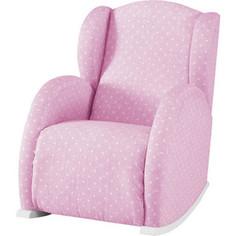 Кресло-качалка мини Micuna Wing/Flor white/galaxy pink