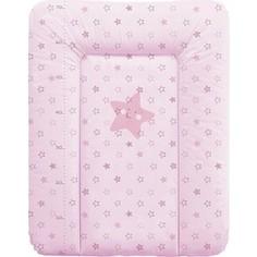 Матрас пеленальный Ceba Baby 70*50 см мягкий на комод Stars pink W-143-066-130