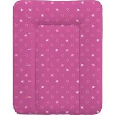 Матрас пеленальный Ceba Baby 70*50 см мягкий на комод Stars dark pink W-143-066-132