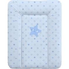 Матрас пеленальный Ceba Baby 70*50 см мягкий на комод Stars blue W-143-066-160