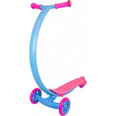 Самокат 3 - х колесный Zycom с выгнутой ручкой Cruz С100 (Зайком Круз) (голубо-розовый)