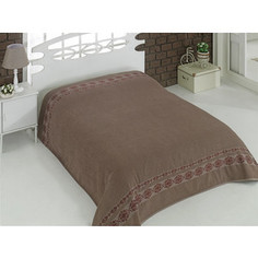 Простыня Karna махровая Rebeka 160x220 см коричневый (2654/CHAR007)