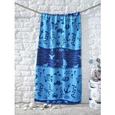 Полотенце пляжное Karna велюр Adrian 75x150 см V9 (2030/CHAR024)