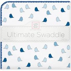 Фланелевая пеленка SwaddleDesigns для новорожденного TB Lt. Chickies (SD-404TB)