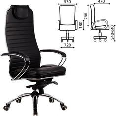Кресло офисное Метта Samurai KL-1 кожа черное ш/к 09911