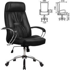 Кресло офисное Метта LK-7CH кожа хром черное ш/к 84980