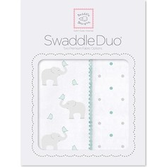 Набор пеленок SwaddleDesigns Swaddle Duo SC Elephant/Chickies (SD-461SC)