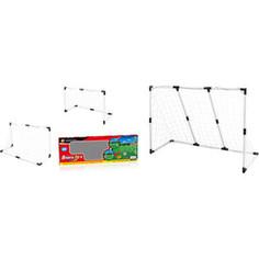 Игровой набор 1Toy Футбольные ворота ч/б 2-в-1: большие 139.5х91.3х48см, или двое маленьких 89.5х62х44см (Т59954)