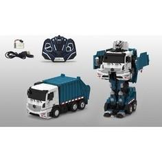 Трансформер 1Toy Робот р/у, трансформируется в мусоровоз, со светом и звуком, 38см, коробка (Т10601)