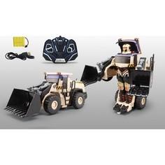 Трансформер 1Toy Робот р/у, трансформируется в экскаватор, со светом и звуком, 38см, коробка (Т10600)