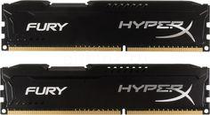 Модуль памяти KINGSTON HyperX FURY Black Series HX318C10FBK2/8 DDR3 - 2x 4Гб 1866, DIMM, Ret