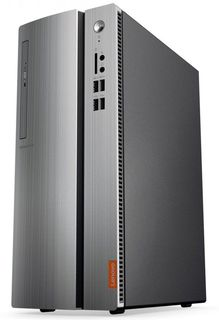 Компьютер LENOVO IdeaCentre 310-15IAP, Intel Pentium J4205, DDR3L 4Гб, 500Гб, Intel HD Graphics 505, Free DOS, черный и серебристый [90g6000qrs]