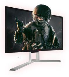 """Монитор ЖК AOC Gaming AG251FG 24.5"""", черный и серебристый"""