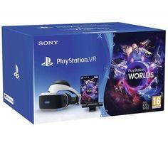 Очки виртуальной реальности SONY PlayStation VR v2 CUH-ZVR2 Worlds, черный/серебристый [ps719982067]
