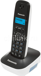 Радиотелефон PANASONIC KX-TG1611RUW, белый и черный