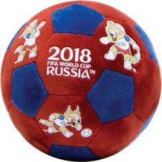 FIFA -2018 Т11682 Мяч плюшевый с термопринтом (красно-синий)