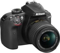 Зеркальный фотоаппарат Nikon D3400 kit 18-55mm AF-P (черный)