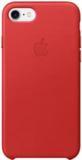 Клип-кейс Apple для iPhone 7/8 кожаный (красный)