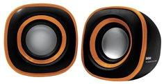 Компьютерная акустика BBK CA-301S (черно-оранжевый)