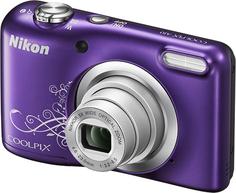 Цифровой фотоаппарат Nikon Coolpix A10 (фиолетовый, с рисунком)
