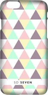 Клип-кейс So Seven Graphic Pastel принт Triangle для Apple iPhone 7/8 (с рисунком)