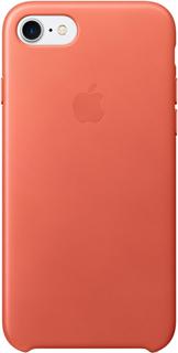 Клип-кейс Apple Leather Case для iPhone 7/8 (розовая герань)