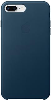 Клип-кейс Apple Leather Case для iPhone 7/8 Plus (космический синий)