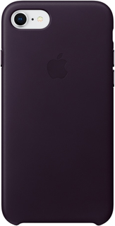 Клип-кейс Apple Leather Case для iPhone 7/8 (баклажановый)