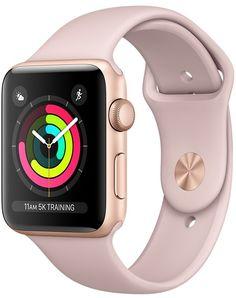 Умные часы Apple Watch Series 3, 42 мм, корпус из золотистого алюминия, спортивный ремешок цвета «розовый песок»
