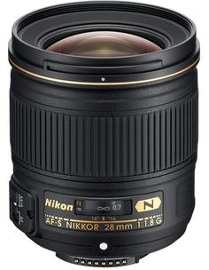 Объектив Nikon 28mm f/1.8G AF-S Nikkor (черный)